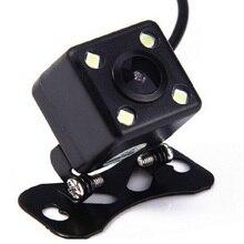 Cámara de Vista trasera de coche HD 4 luces LED cámara de visión nocturna cámara de aparcamiento automático cámara de marcha atrás impermeable del vehículo