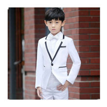 Boy dress handsome white boy suit three piece wedding party children 2 pcs