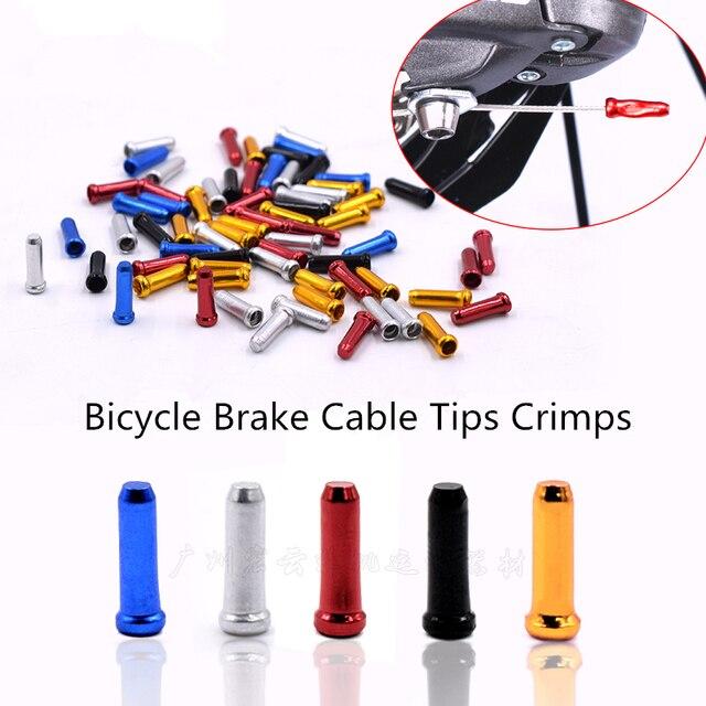 10 Stks Aluminium Mtb Fiets Kabel Tips Crimps Fietsen Derailleur Shift End Caps Core Inner Wire Adereindhulzen