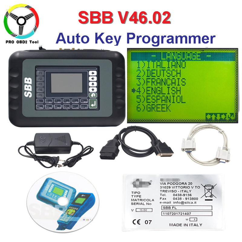 Professional Universal SBB <font><b>Auto</b></font> <font><b>Key</b></font> <font><b>Programmer</b></font> <font><b>Key</b></font> Maker SBB V46.02 Support 9 Languages No Tokens Limited As <font><b>CK100</b></font> V46.02 image
