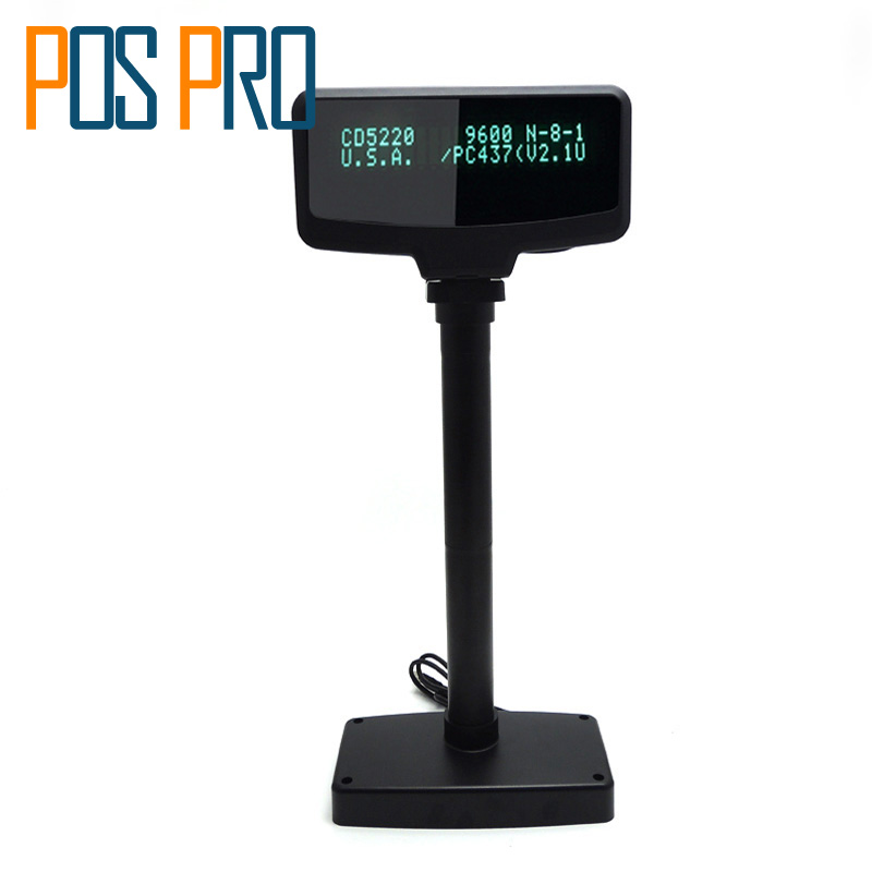 цена IVFD02 BLACK POLE DISPLAY VFD2*20 With RS PORT in Pos System For Supermarker and Restaurant Show Order Details
