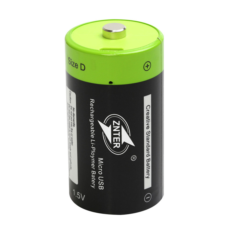 ZNTER D size 4000mAh Lithium Battery Bateria Pilha Recarregavel 1.5v 2A 4000mAh Rechargeable Battery Multifunctional Li-polymer