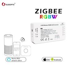 ZIGBEE  RGBW controller led strip rgbcct/ww/cw/dimmer dc12-24v180W-360Wsmart app control work with ZigBee3.0 zll