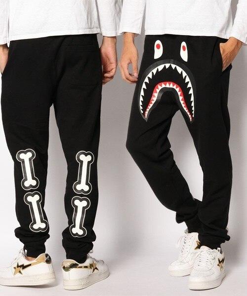 design di qualità 71521 165b3 US $23.48 |Pantaloni bone sport harem pantaloni della tuta uomini bape bape  cargo jogging allentato tuta casuale pantaloni hip hop pantaloni bape bape  ...