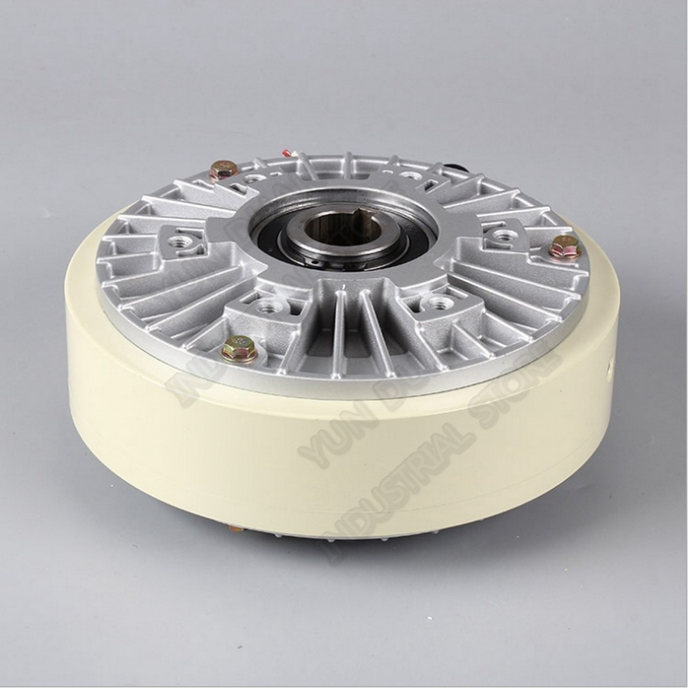 50Nm 5kg DC 24V Hollow Shaft 1000RPM Magnetic Powder Brake Unwinding For Tension Control Continuous Sliding Simulated Load