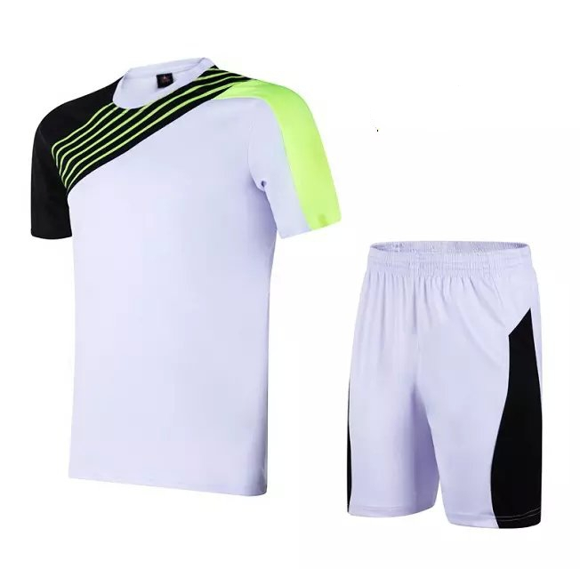 041f552cc wholesale blank soccer jersey + pants plain football training sets men kit  print customize name number logo summer short sleeve