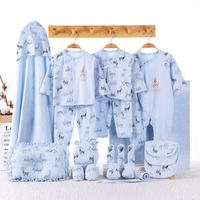 blue yellow pink 19pcs/set newborn baby clothing set gift underwear clothes suits 100% cotton letters printed infant clothing