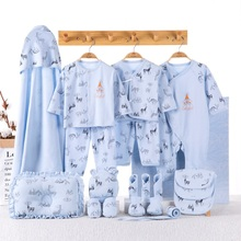 blue yellow pink 19pcs/set newborn baby clothing set gift underwear clothes suits 100% cotton letters printed infant clothing цена
