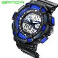 2016 Dos Homens de Quartzo SANDA S Choque Relógio Digital Homens Relógios Desportivos Relogio masculino Relojes LED Militar relógios de Pulso À Prova D' Água