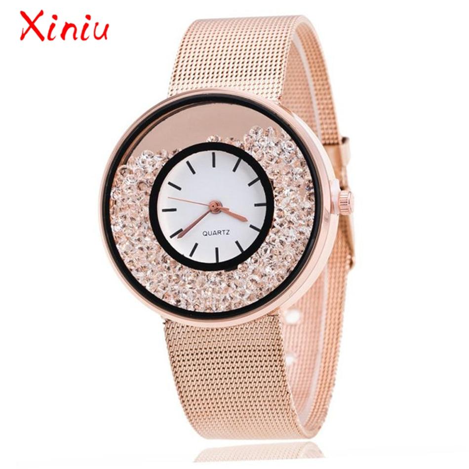 Dropshipping Watch Women Stainless Steel Rose Gold Silver Wrist Watch Luxury Ladies Rhinestone Quartz Watch Relogio Feminino New