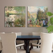 2 Pcs Pond at Montgeron Painting