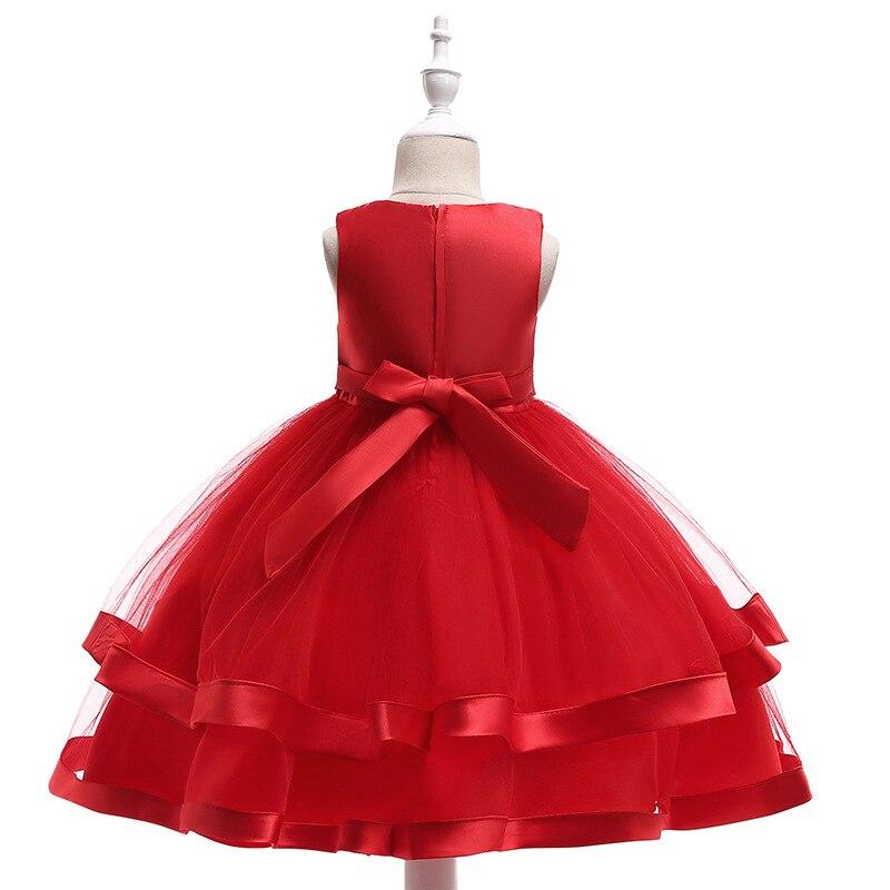 Tulle Ball Gown Flower Girl Dresses for Party and Wedding Satin Belt Communion dresses Girls Dress 2019