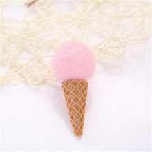 1Piece Mini Ice Cream Wool Felt Craft Poke DIY Kits Multiuse Christmas Tree Deco Brooch Children Hair Band Green Pink Red Green(China)