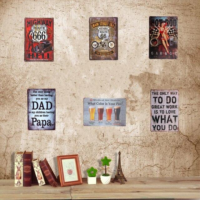 Vintage Tin Sign Pin up Poster Beer Warning no somking Toilet Restaurant Coffee Cafe Pub Bar Home Wall Decor