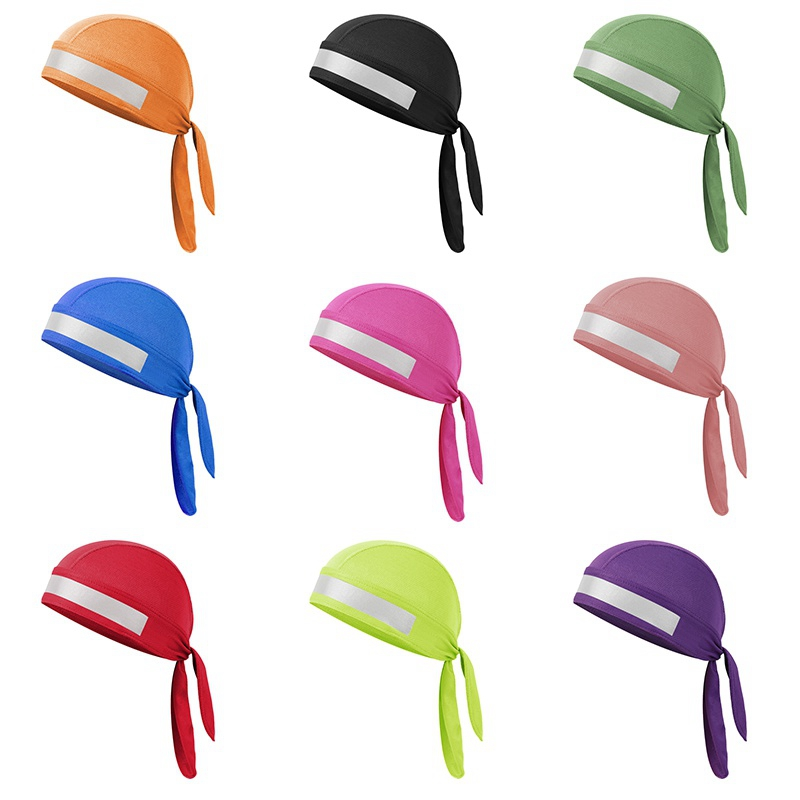Hot Quick Dry Pure Cycling Cap Head Scarf Summe Running Riding Bandana Headscarf Pirate Hat Hood Reflective design Headband