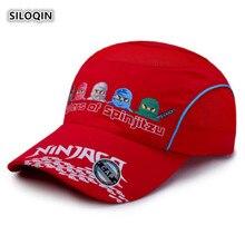 SILOQIN Summer New Style Child Student Quick-drying Baseball Cap Adjustable Mesh Breathable Cartoon Summer-camp Motion Visor Hat