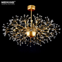 Large Vintage Crystal Chandelier Light Floral French Crystal Lustre Light Cristal Suspension Lamp MD2396