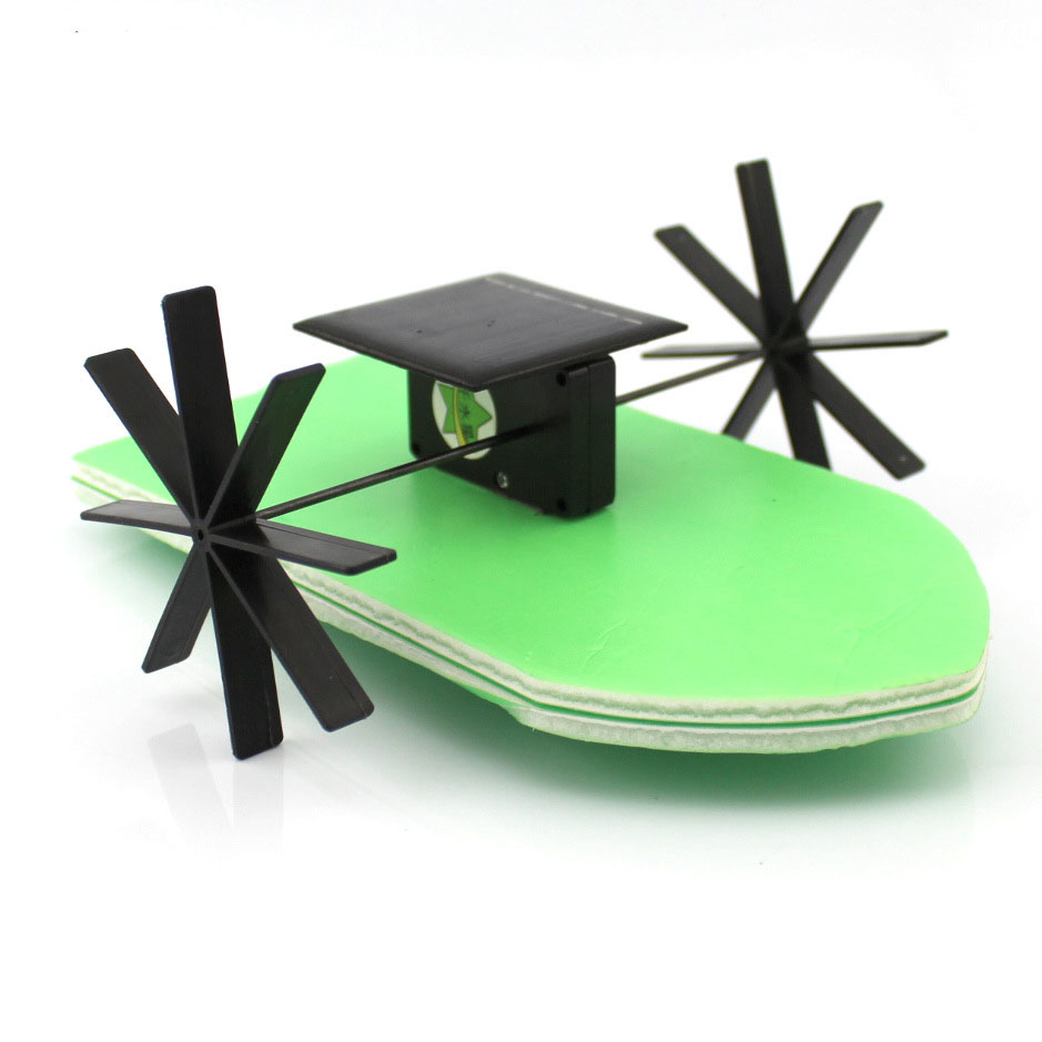 DIY Solar Energy Wheel Paddle Ship Handmade Toys Physical Gizmo Building Blocks Kits Solar Energy Assembled Toy Teaching Tool