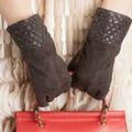 Free Shipping Kursheuel Brand Fashion Women Sheepskin Gloves Leather Gloves Autumn and Winter Warm Gloves Women Gloves