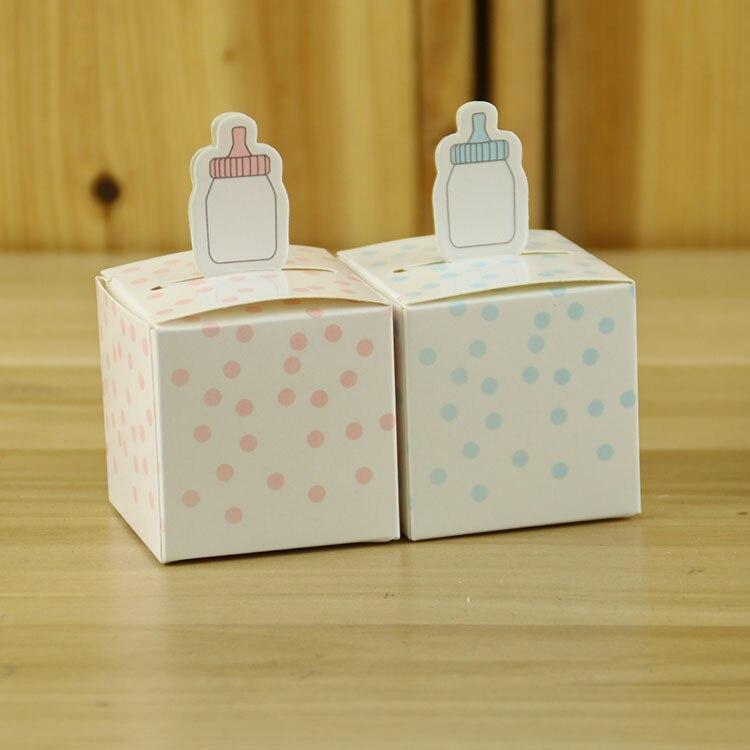500pcs nursing feeding bottle baby shower party Wedding favor paper box favor gift box birthday candy box sweet love box