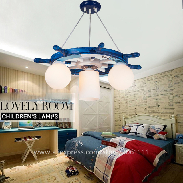 Mediterranean Eco Friendly Boys And Girl Nursery Lamp Corsair Helm Led Kids  Lights Pendant Light