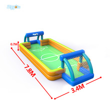 New Design Nylon Inflatable Toys Football Pitch With Blower For Shopping Mall Use