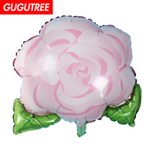 Decorate 50x54cm pink green flower foil balloons wedding event christmas halloween festival birthday party HY-308