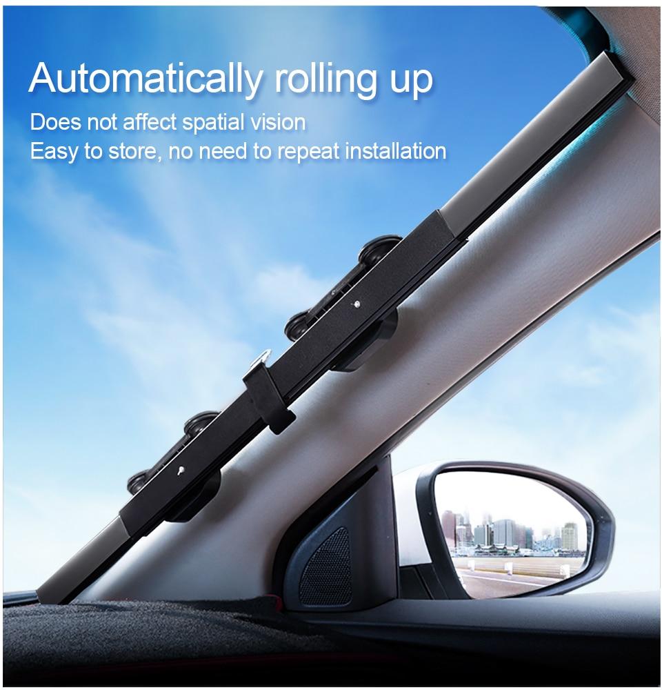 Car Retractable Curtain UV Protection Front Windshield Visor Sun Shade 65x150cm