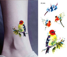 Tattoo Stickers Birds 10.5x6cm High-definition Watercolor Men Women Small Tattoo Stickers