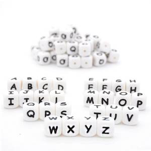 Beads Baby Letter Silicone Personalized Necklace Alphabet Chewing Diy Teething for Name