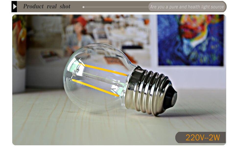 Dimmable Antique Retro Edison Incandescent LED lamp 110V E27 2W 4W 6W (1)