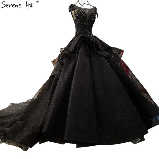 Black Sexy Latest Wedding Gown Designs 2018 Real Photo Sleeveless