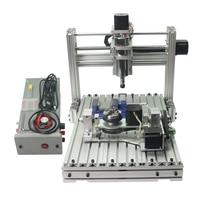 CNC DIY 3axis mini milling machine 3040 4axis full metal cnc engraving machine 300*400mm 5axis cnc router