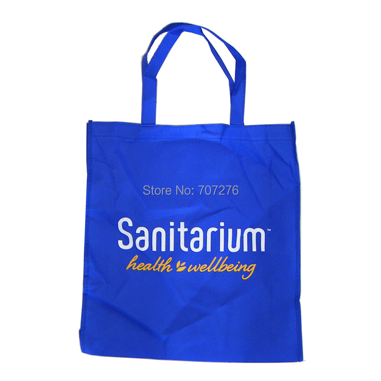 [Free Shipping + Free Logo]500/lot,38*42*10cm Promotional Advetising Logo Non Woven Bag, 1 Color 1 Side Logo Included