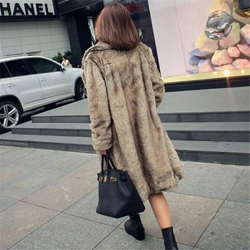 Femelle Grande Vison Automne Longue Cuir Entier Robe Hiver Européen Brown Manteau Imitation De Nouveau Code Haute Fourrure Style 2018 nkwP80O
