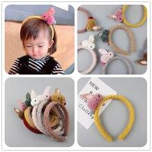 1 шт./лот, Детские аксессуары для волос, супер милая повязка на голову с кроликом для девочек, декоративный ободок, эластичные резинки для волос