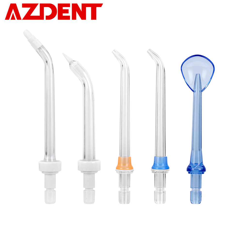 5 Replacement Tips Nozzle For Cordless 3 Mode Oral Jet Irrigator Portable Water Dental Flosser AZDENT HF-5 Periodontal Bag Floss