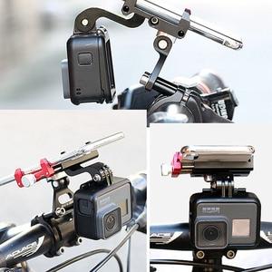 Image 5 - JINSERTA CNC אלומיניום אופני אופניים Stand הר עבור Gopro 7 סוגר מתאם עם טלפון נייד מחזיק לgopro 6/5 Xiaomi יי