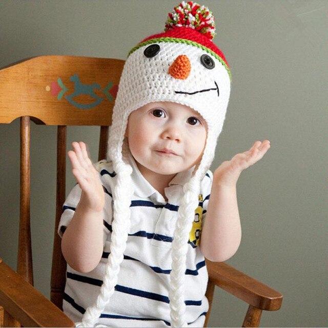 3c588a2ab2e6f Baby Hat New Arrival Children Knitted Hats Winter Warm Crochet Cap Girls  Boys Beanie Cute Christmas
