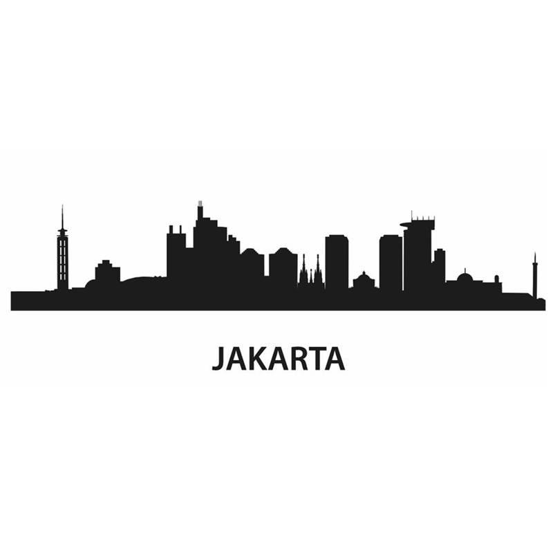 DCTAL JAKARTA City Decal Landmark Skyline Wall Stickers