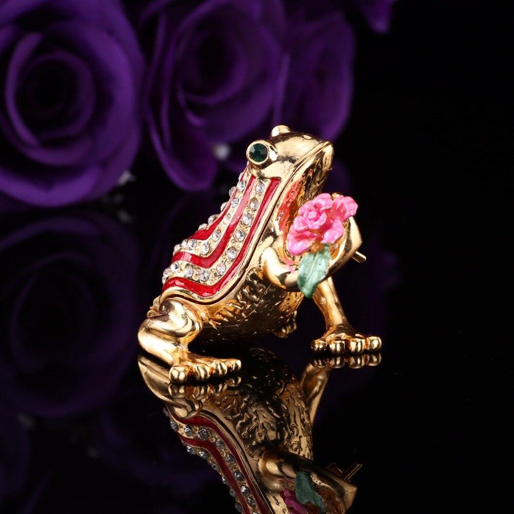 Qifu Home Decor Frog Shape  Metal Jewelry Holder