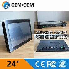 24″ Industrial Single Board Computer With CPU C1037U /WIFI /2*COM/ RJ-45 / 2GB RAM / 32G SSD Resolution 1920X1080