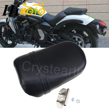 Motorcycle Black Seats Cover Cafe Racer Seat Pillion Rear Passenger Seat For Kawasaki Vulcan 650 VN650 2015 2016 2017
