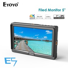 Eyoyo E5 5 Inch 1920x1080 HD IPS Screen 500cd/m2 Camera Field Monitor 4K HDMI Input Output Video for DSLR Mirrorless