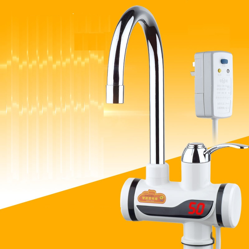 BDP3000W-4,Earth Leakage Protection Plug,Digital Display,Tankless Electric Faucet,Kitchen Faucet Water Heater