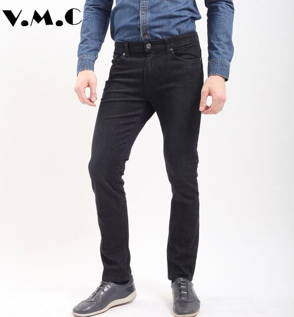Pantalones vaqueros para hombre, con pierna recta