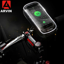 ARVIN Bike Rainproof Bag Phone Holder For iPhone X Front Tube Cycling Mobile Case Universal Cell GPS Bicycle Support