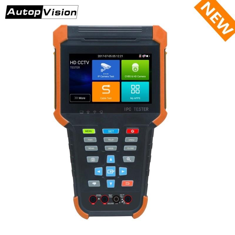 2018 New H.265 4K IP Camera Tester X4 8MP TVI CVI 5MP AHD SDI CVBS CCTV Camera Tester Monitor With RJ45 UTPcable Test,Multimeter