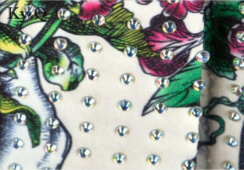 Haute Midi Imprimé Luxe Floral Taille Tunique Femmes Femelle Jupe D'été Vêtements Diamant De Piste Perles 2018 Vintage Longue wUZOnExqH8