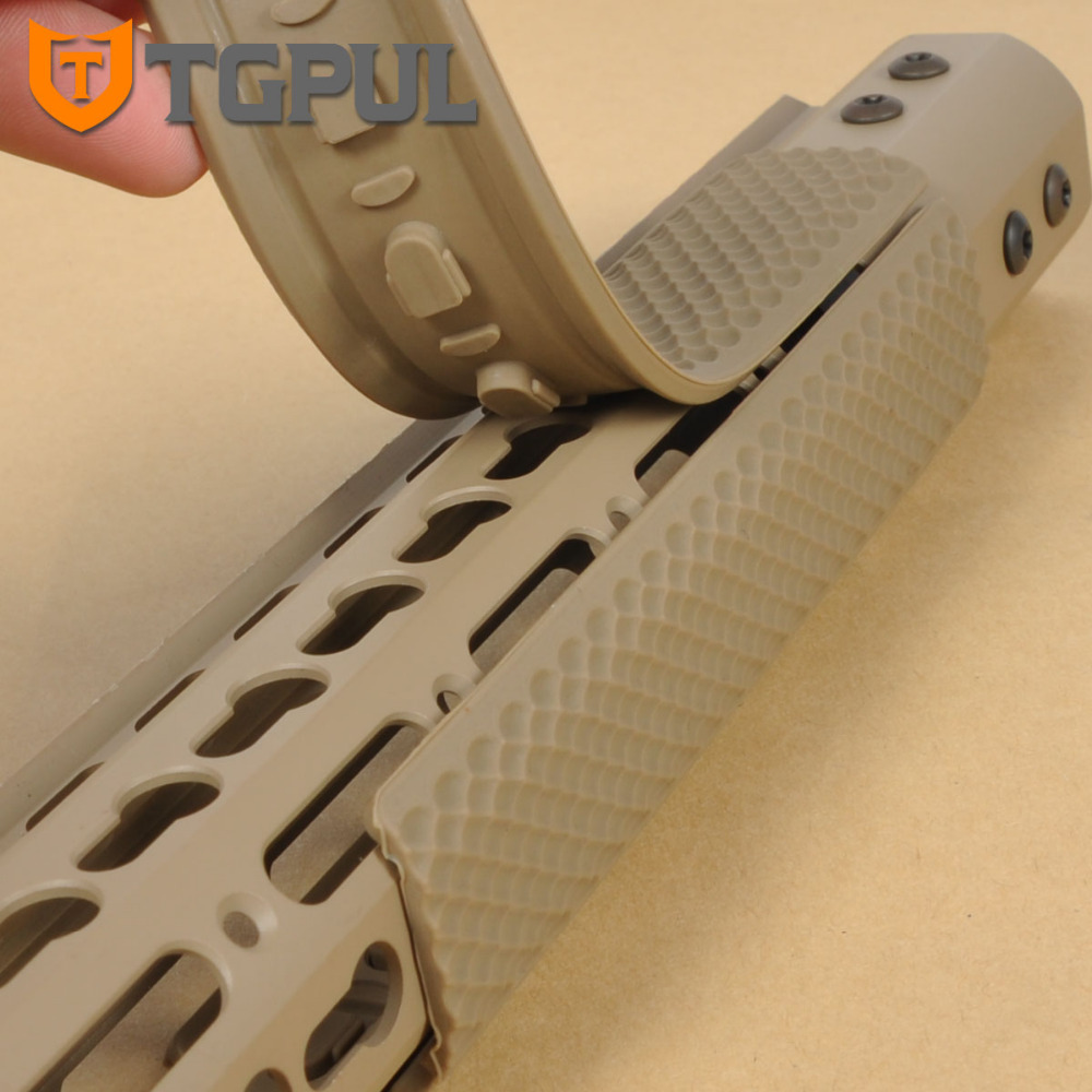 TGPUL KeyMod Handguard Rail Covers Soft Rubber Hand Guard Protector Cover Tactical Guad Rail Panels Hunting Accessories